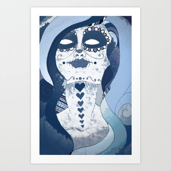 How Blue is Your Heart? Art Print