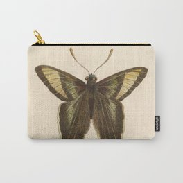 Antique Curius Butterfly Lithograph Carry-All Pouch
