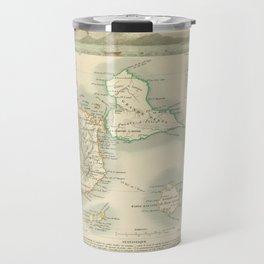 Vintage Map of Guadeloupe (1856) Travel Mug