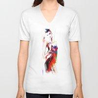 carnival V-neck T-shirts featuring carnival by tatiana-teni