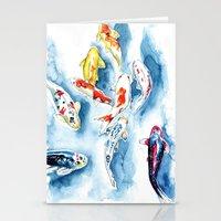 koi Stationery Cards featuring Koi  by Bridget Davidson
