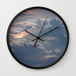 Looking Down from Heaven Wall Clock