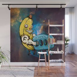 Big Yellow Banana Hugging Goat-School-Bus Wall Mural