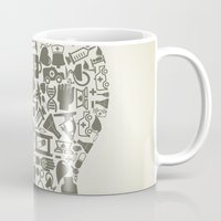 medicine Mugs featuring Head medicine by aleksander1