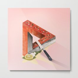 Paradox of Salmon Metal Print