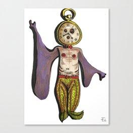 Clock Fish Canvas Print