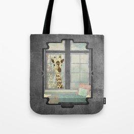 Bay Window Giraffe Tote Bag