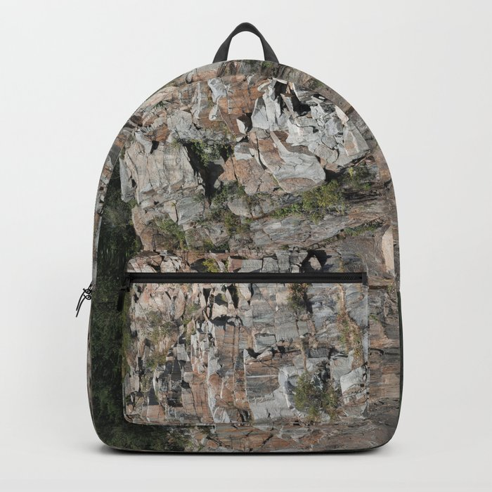 Granite Quarry Reflection Abstract Backpack