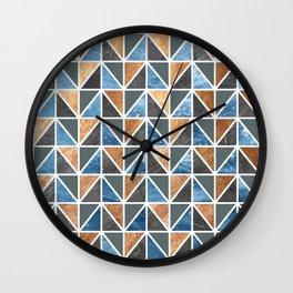 Gold Steel Ice geometric pattern Wall Clock