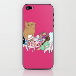 Teatime//because every cat deserves to be spoiled iPhone Skin