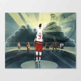 Mr. Hockey Canvas Print