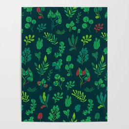 Botanical plants Poster
