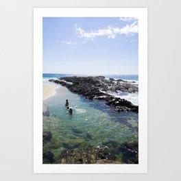 A Day at the Beach 4 Art Print