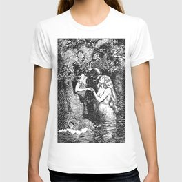 The Nymph Caught the Dryad in Her Arms - HR Millar (1904) T-shirt