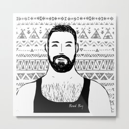 Beard Boy: Paulin Metal Print