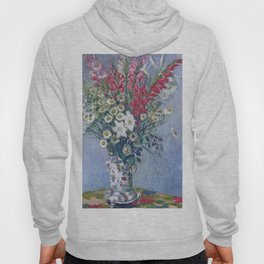 Claude Monet - Bouquet Of Gadiolas, Lilies And Dasies Hoody
