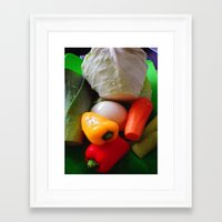 vegetables Framed Art Prints featuring Vegetables by LoRo  Art & Pictures