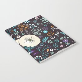 Subsea floral pattern Notebook