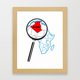 Algeria Magnifying Glass Framed Art Print