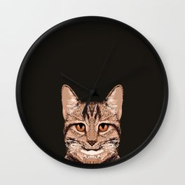 Ripley - Tabby Cat cute cat gifts for cat people and cat lady gift ideas for the cat lover  Wall Clock