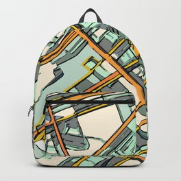Abstract Map- Boston South End Backpack