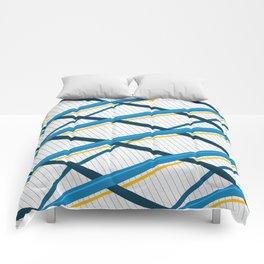 Deco Stripes Blue Comforters