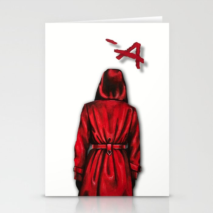 Pretty Little Liars Quot Red Coat Quot Drawing Stationery