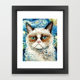 Grumpy Cat Is Still Grumpy Framed Art Print