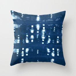 Shibori Clothespins  Throw Pillow