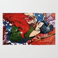 geisha Area & Throw Rugs featuring Geisha by Spooky Dooky