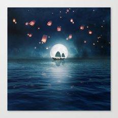 Travel through the Lights Canvas Print
