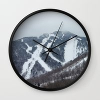 vermont Wall Clocks featuring Killington Vermont by BACK to THE ROOTS