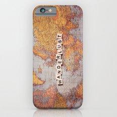 wanderlust map Slim Case iPhone 6