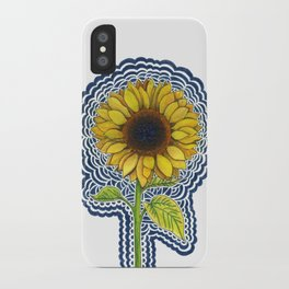 Sunflower Drawing Meditation iPhone Case