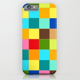 Colorful geometry, happy colors iPhone Case