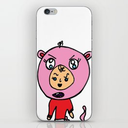 Angry Teddy Bear Baby iPhone Skin