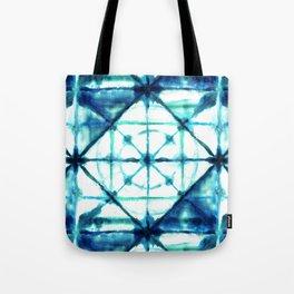 Shibori in Ocean Blues Tote Bag