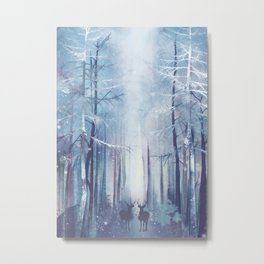 Under the tall forest trees I Metal Print