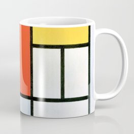 Composition With Red, Yellow, Blue, And Black - Piet Mondrian Coffee Mug