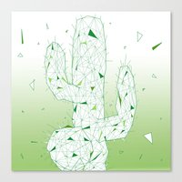 cactus Canvas Prints featuring Cactus by ARCHIGRAF