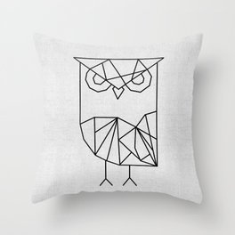 Owl Graphic Throw Pillow