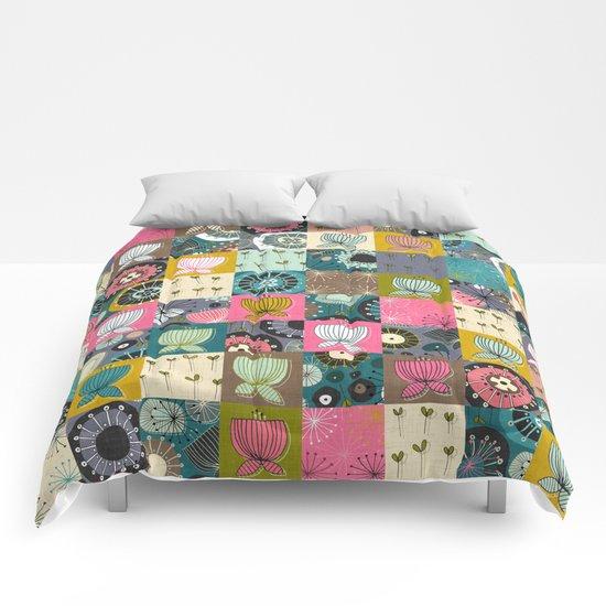blooms patchwork Comforters