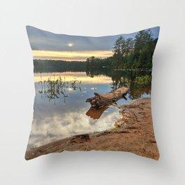 Nicks Lake Sunset Throw Pillow