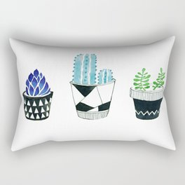 Living with succulents Rectangular Pillow