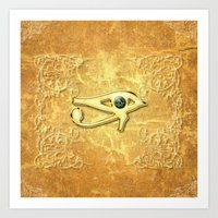 all seeing eye Art Prints featuring The all seeing eye by nicky2342