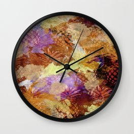Abstract Pineapples Wall Clock