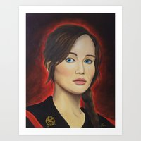 katniss Art Prints featuring Katniss by Lauri Loewenberg