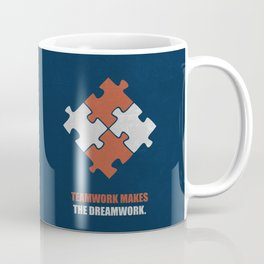 Lab No. 4 - Teamwork makes the dreamwork corporate start-up quotes Poster Coffee Mug