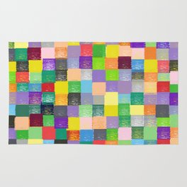 Pixelated Patchwork Rug