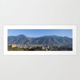 Panorama of Caracas Art Print